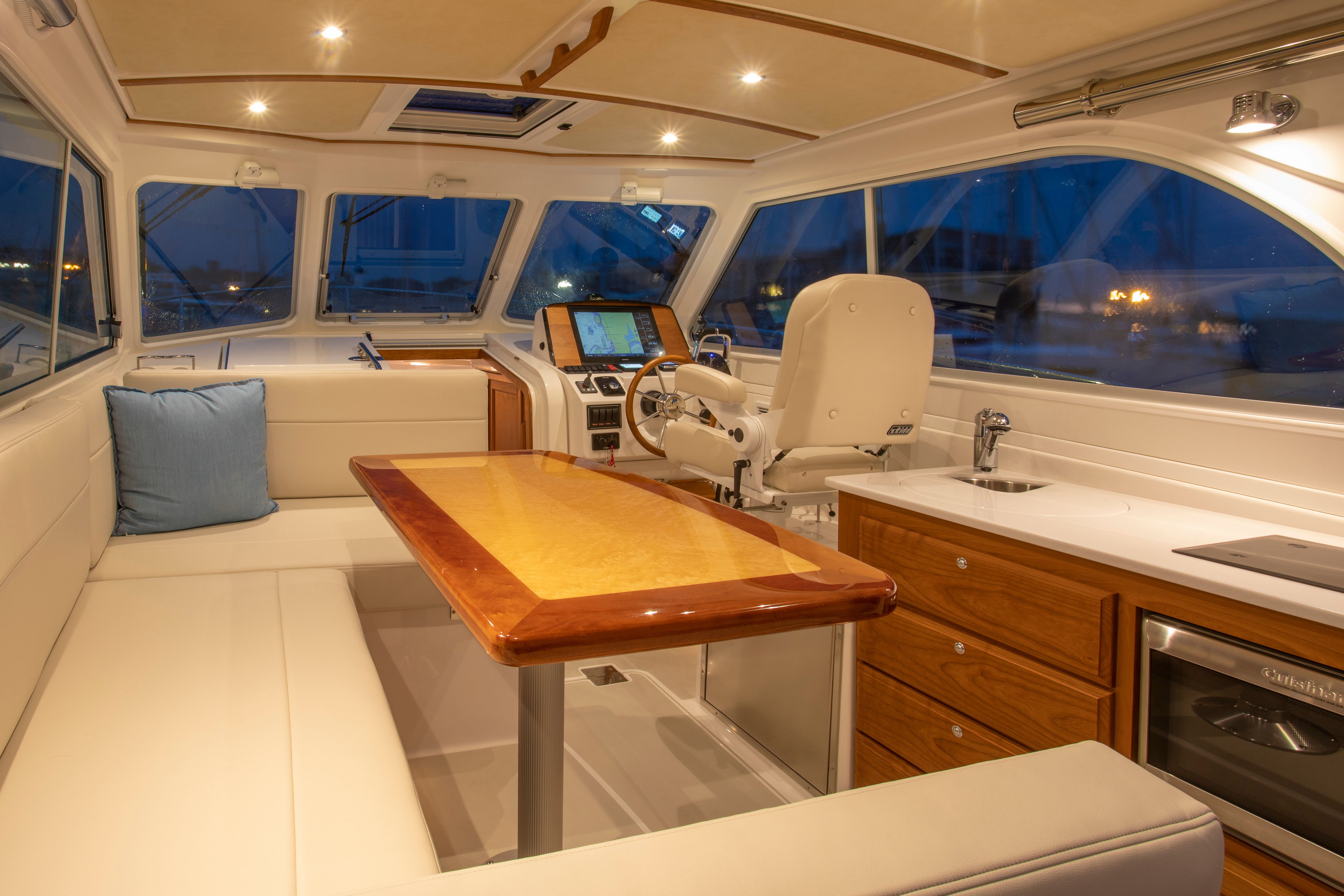 Back Cove 34O Interior Helm